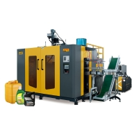 High speed extrusion blow molding machine